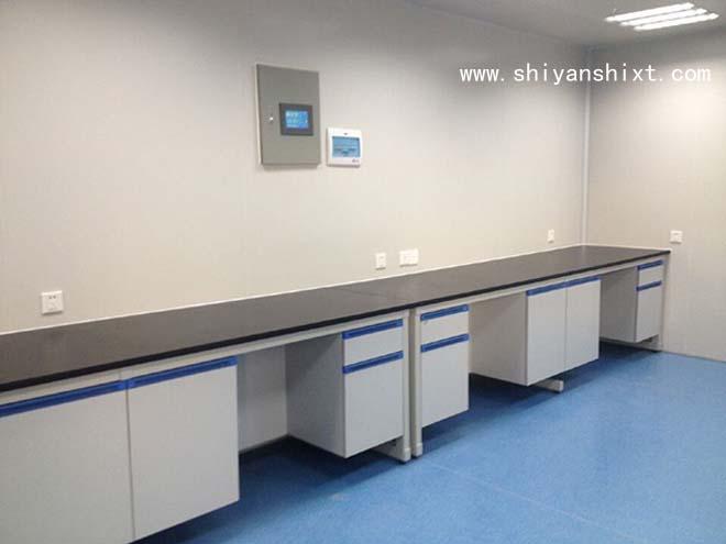 钢木边台柜体采用16mm厚优质三聚氰胺板