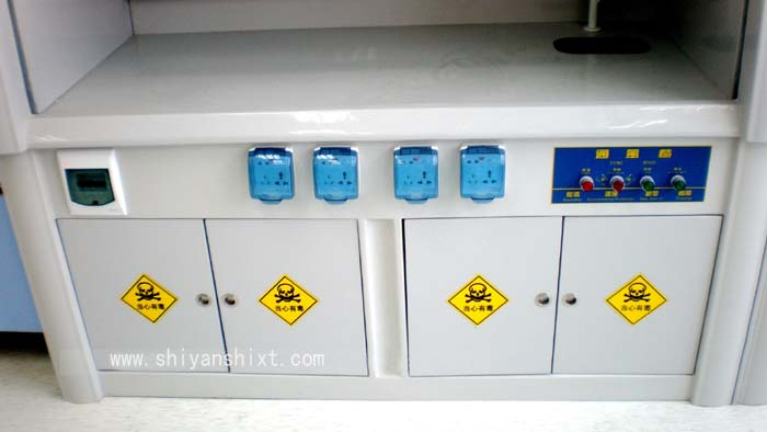 玻璃钢通风柜柜体采用阻燃树脂加高强度纤维