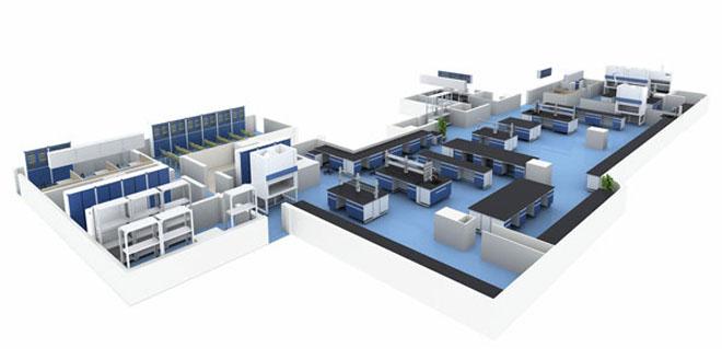 实验室功能布局平面图